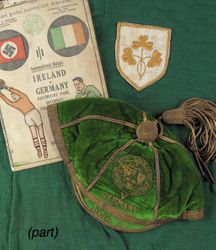 Hughie Connolly's Irish Free State football cap v Germany 1936-37