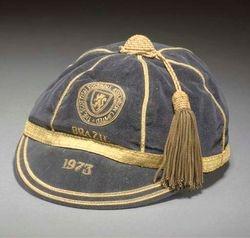 Willie Morgan's Scotland cap v Brazil 1973