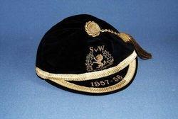 Scotland International Football cap v Wales 1957-58