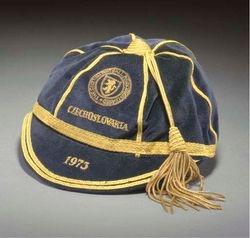 Willie Morgan's Scotland football cap v Czechoslovakia 1973