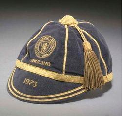 Willie Morgan's Scotland Football cap v England 1973