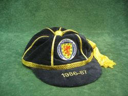Dave Cooper's Scotland International Football Cap 1986-87
