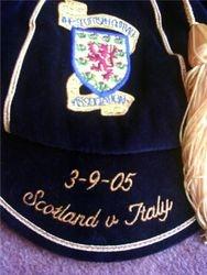 Scotland Football Cap v Italy 2005