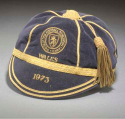 Willie Morgan's Scotland Football cap v Wales 1973