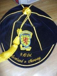 Scotland Football Cap v Norway 2004
