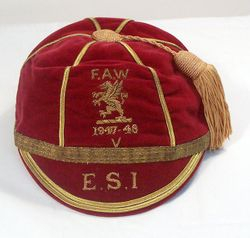 George Edwards' Wales Football Cap 1947-48 season