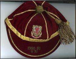 Frankie Jones' Wales Under 21 International Football Cap 1980-81