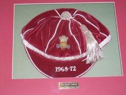 Ray 'Chico' Hopkins' Wales International Cap 1968-72