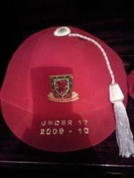 Lee Lucas' Welsh Under 17 Football Cap 2009-10