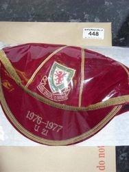 Wayne Hughes Wales U21 Football Cap 1976