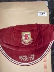 Wayne Hughes Wales U21 Football Cap 1975