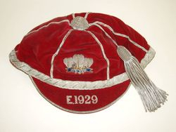 Welsh Schools Rugby Cap v England 1929