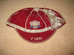Welsh Schools Rugby Cap v France 1931