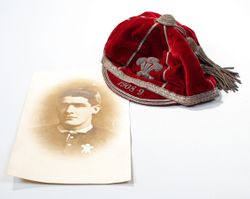 Bert Jenkins 1908 Wales Rugby League Cap