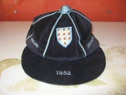 England Amateur Football cap v Holland and Scotland 1982