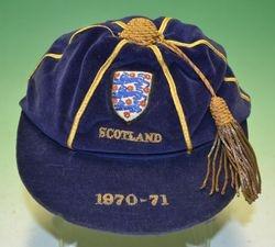 John Robson England cap v Scotland 1970
