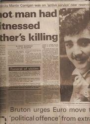 Newspaper Report. Martin Corrigan