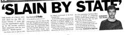 Newspaper Report, Eoin Morley