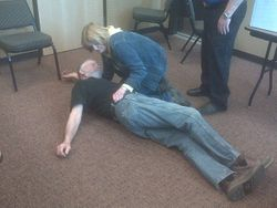 Recovery Position - First Aid in the Wilderness Class