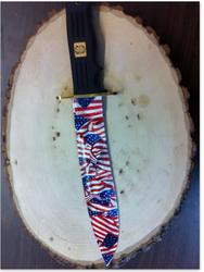 Knife in American flag dip