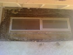 cuting out stucco for new construction