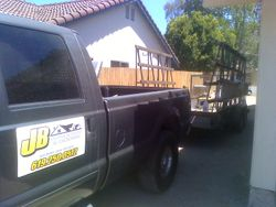 one of three trailers we use
