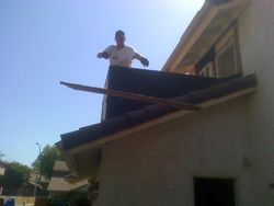 removing siding t1 11  around the house preping it for stucco