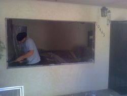 changing the whole front of the house, before