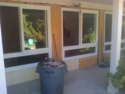 all framed in, no more front door HUGE difference in the house