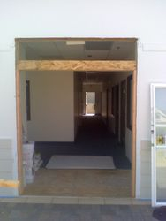 was a big hole we framed it in for a door and window
