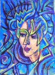Zena u plavom ( the woman in blue)