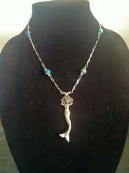 Fine Silver (.999) mermaid  on sterling chain