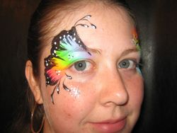Neon Rainbow Eye Butterfly