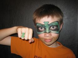 Green Lantern Mask,Ring, and 5 o'clock shadow