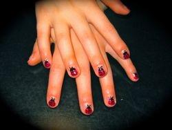 Lady bugs nails