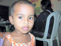 Child in the Medical Camp