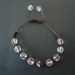 Macrame bracelet with glass beads