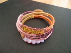 Triple herringbone wrap bracelet