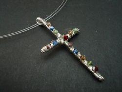 Wire wrapped Swarovski cross