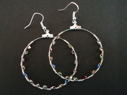 Wire wrapped Swarovski earrings