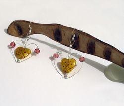 Heart shaped heart earrings