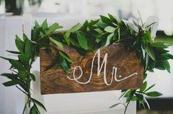 Wooden Mr. Sign