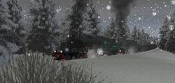 TGOJ M3t and Gb95 running in heavy snow