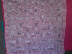 36x36 Pink/White Baby quilt