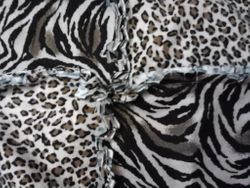 Close-up of fabric for rag quilt