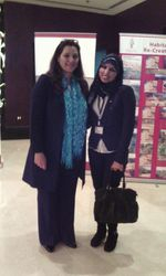 Nura Abboud with HRH Princess Basma Bint Ali