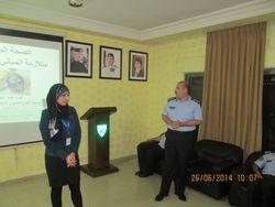 Colonel Mahmoud Abu Rumman introducing Nura Abboud