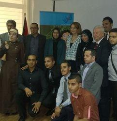 Group photo with her Majest Queen Noor AlHussien