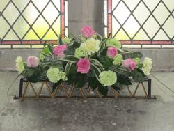 Church Window Flower Arrangement - Florist Shrewsbury