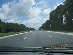 95 on our way to Florida